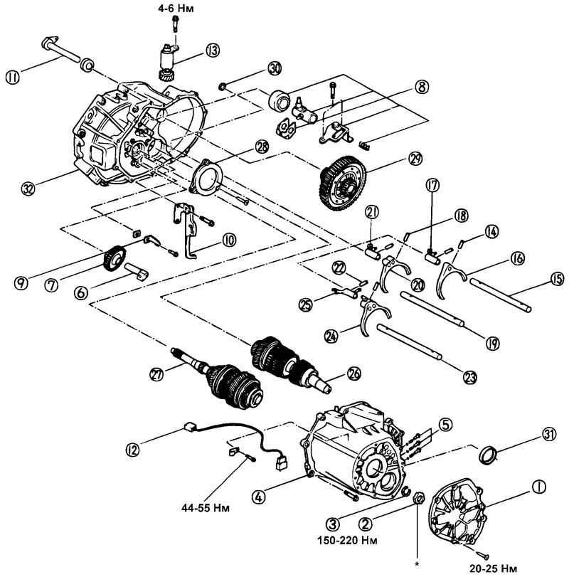 4 – картер коробки передач